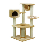 cb pluto cat tree corner natural w/slide&tunnel lrg