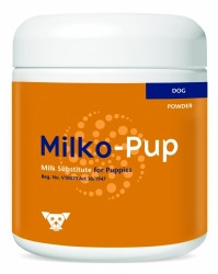 Milk replacer for puppies that cannot get bitch's milk (e.g. orphaned or rejected puppies or those nursing but requiring supplementation). Can also be used for growing puppies, geriatric dogs and dogs under stress or convalescing.