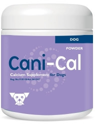 Calcium supplement containing vitamins and minerals for dogs. Excellent supplement for pregnant and lactating bitches.