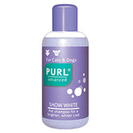 A mild shampoo that enhances the coats of white-haired dogs and cats. This special formulation (does not contain bleach) cleans thoroughly and adds life to the coat. It is gentle on the skin, lathers richly and the pH is neutral.
