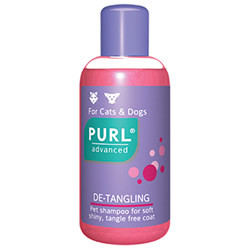 A pearly shampoo especially formulated for long-haired dogs and cats. The excellent de-tangling properties are due to specialised conditioning actives including cosmetic silicones and coconut oil derivatives. Has a neutral pH and will not irritate pet's skin.