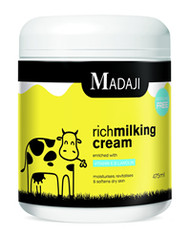 Antibacterial milking salve with lanolin and Vitamin E to keep udder and quarters soft and supple. Contains no perfume and will not taint milk.