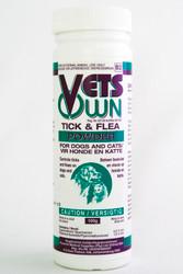 Controls ticks & fleas on dogs & cats