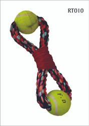 Cotton Figure 8 with 2 Tennis balls