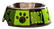 Rogz 2-in-1 Small 160ml Bubble Dog Bowl, Lime Juice Design