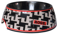 Rogz 2-in-1 Bubble Dog Bowl, Houndstooth Design