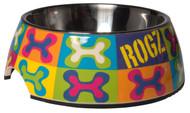 Rogz 2-in-1 Bubble Dog Bowl, Pop Art Design