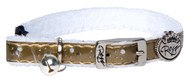 Rogz Catz TrendyCat Small 11mm Stylish and Soft Cat Collars are fully adjustable for a neck size from 20-31cm and are fitted with the new metal pin-buckle, which is a definite trend-setter amongst the feline population. With its color-coded and removable bell, super-soft base with a polyurethane overlay, your cat will feel feel right at home on a movie set or a red carpet.  All TrendyCat collars are scratch-resistant and their rolled edges are stitched as well to ensure no open ends or sharp edges on the product. Suitable for most cat breeds and sizes.