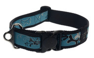 Rogz Fancy Dress Extra Extra Large 40mm Special Agent Dog Collar, Turquoise Chrome Design(HB04-BK)