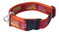 Rogz Fancy Dress Extra Extra Large 40mm Special Agent Dog Collar, Tango Paw Design(HB04-BQ)