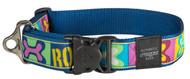 Rogz Fancy Dress Extra Extra Large 40mm Special Agent Dog Collar, Pop Art Design(HB04-BW)