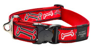 Rogz Fancy Dress Extra Extra Large 40mm Special Agent Dog Collar, Red Rogz Bone Design(HB04-CC)