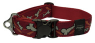 Rogz Fancy Dress Extra Extra Large 40mm Special Agent Dog Collar, Red Bones Design(HB04-X)