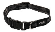 Rogz Alpinist Small 11mm Kilimanjaro Dog Collar, Black Rogz Design(HB21-A)