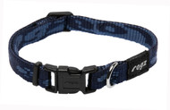 Rogz Alpinist Small 11mm Kilimanjaro Dog Collar, Blue Rogz Design(HB21-B)