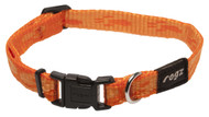 Rogz Alpinist Small 11mm Kilimanjaro Dog Collar, Orange Rogz Design(HB21-D)