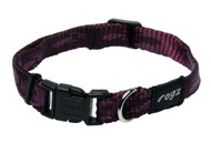Rogz Alpinist Small 11mm Kilimanjaro Dog Collar, Purple Rogz Design(HB21-E)