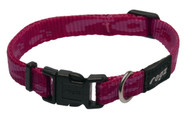 Rogz Alpinist Small 11mm Kilimanjaro Dog Collar, Pink Rogz Design(HB21-K)