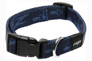 Rogz Alpinist Medium 16mm Matterhorn Dog Collar, Blue Rogz Design(HB23-B)