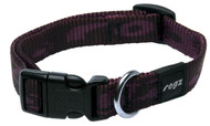 Rogz Alpinist Medium 16mm Matterhorn Dog Collar, Purple Rogz Design(Hb23-E)