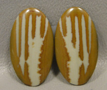 Owyhee Picture Jasper Matched Pair Cabochons #6