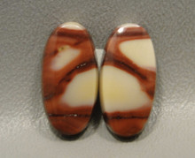 Mookaite Mook Jasper Matched Pair Stone Cabochons #20