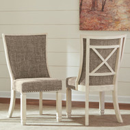 Bolanburg Two-tone Dining Upholstered Scoop Back Side Chair