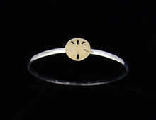 Silver & 14K Gold 3mm Sand Dollar Bracelet