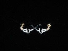 Silver & 14K Gold St. Croix Hook Earrings  (x-small- 10¢ size)