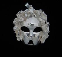 Silver Mardi Croix Mask Pendant