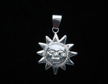 Silver Papa Sun Pendant