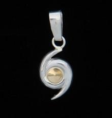 Silver & 14K Gold Hurricane Symbol Pendant