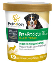 Petnology Probiotics for Dogs Soft Chews 120ct