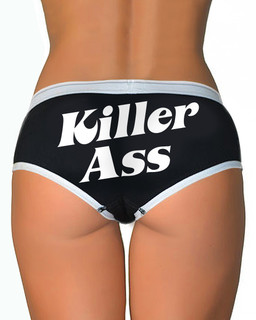 Killer Ass - Boy Brief Underwear Aesop Originals Clothing (Black)