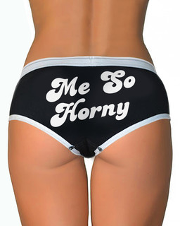 Me So Horny - Boy Brief Underwear Aesop Originals Clothing (Black)