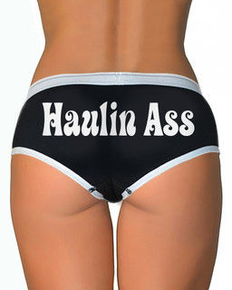 Haulin Ass - Boy Brief Underwear Aesop Originals Clothing (Black)
