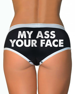 My Ass Your Face - Boy Brief Underwear Aesop Originals Clothing (Black)