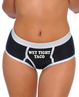 Wet Tight Taco - Boy Brief Underwear Aesop Originals Clothing (Black)