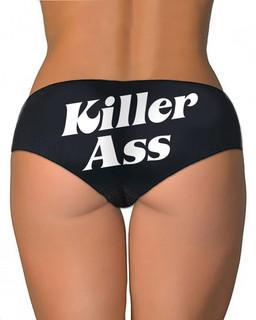 Killer Ass - Booty Shorts Underwear Aesop Originals Clothing (Black)