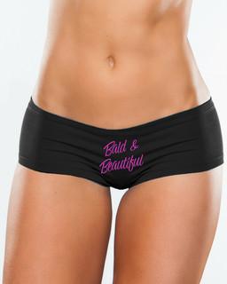 Bald & Beautiful Pink Ink - Booty Shorts Underwear Aesop Originals Clothing (Black)