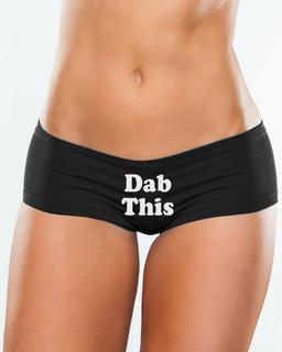 Dab This- Booty Shorts Underwear Aesop Originals Clothing (Black)