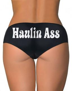 Haulin Ass - Booty Shorts Underwear Aesop Originals Clothing (Black)