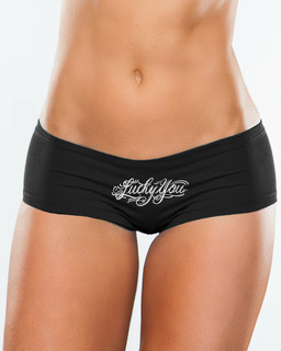 Lucky You - Booty Shorts Underwear Aesop Originals Clothing (Black)