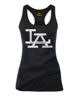 L.A. Lil Angels Logo - Tank Top Lil Angels Logo Clothing (Black)