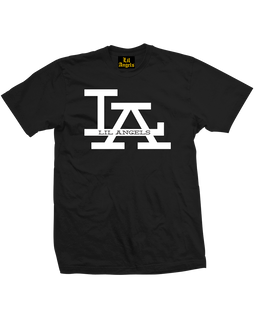 L.A. Lil Angels Logo - Mens Tee Shirt Lil Angels Clothing (Black)