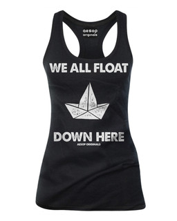We All Float Down Here - Tank Top Aesop Originals Clothing (Black)