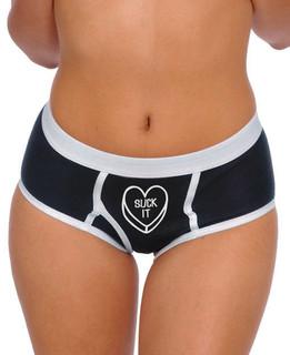 Suck It Sweetheart  - Boy Brief Underwear Aesop Originals Clothing (Black)