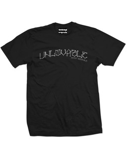 Unlovable - Mens Tee Shirt Aesop Originals Clothing (Black)