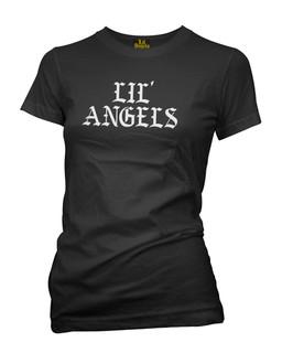 Lil Angels Old Skool Logo - Tee Shirt Lil Angels Clothing (Black)