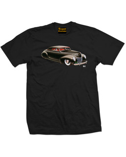 1939 - 1940 Mercury Convertible Coupe - Mens Tee Shirt Elegant Customs Clothing (Black)